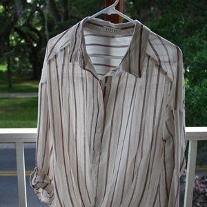 Striped  lightweight  top (L)